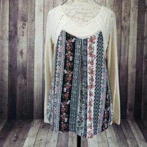 Taylor & Sage long sleeve lace detail blouse